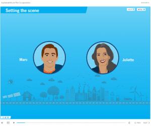 Screenshot a interactive course