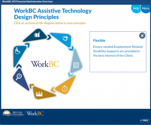 Screenshot of WorkBC Training course