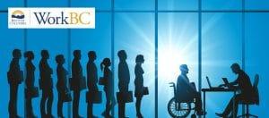 WorkBC Logo on an animated background