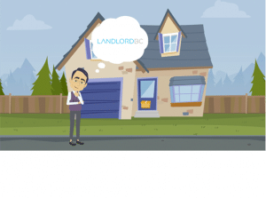 Animated image of a man thinking about LandlordBC