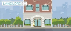 Landlord BC logo on an animated background
