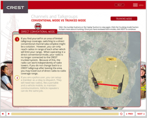 Screenshot of CREST training course