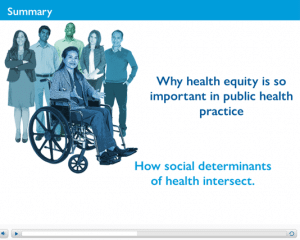 Why healthy equity is so important in public health practice. How social determinants of health intersect