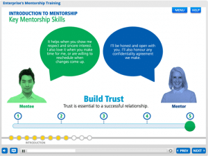 Screenshot of mentorship training course