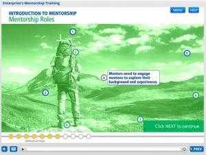 screenshot of mentorship training course