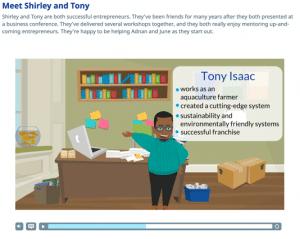 Screenshot showing an animated video