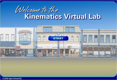 Open School BC – Kinematics Virtual Lab – Science 10