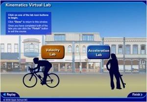 Open School BC – Kinematics Virtual Lab – Science 10