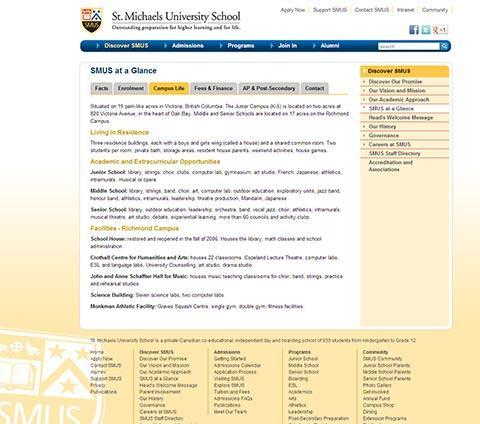 St. Michaels University School – SMUS Main Website