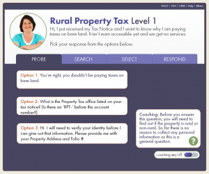 Screenshot of the property tax transition course