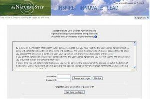 The Natural Step – Sustainability: Step by Natural Step – Course and LMS