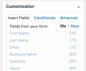 Adding Formidable Pro Field IDs