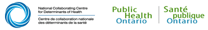 National Collaborating Centre for Determinants of Health and Public Health Ontario Logos